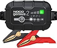 NOCO GENIUS2, 2-Amp Fully-Automatic Smart Charger, 6V And 12V Battery Charger, Battery Maintainer, Trickle Cha