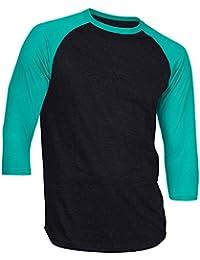 Men's Casual 3/4 Sleeve Baseball Tshirt Raglan Jersey Shirt