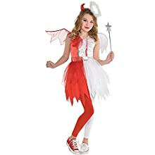 amscan Girls Naughty & Nice Costume- Medium (8-10), Multicolor