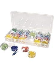 Rayher 39215000 kralen sorteer-/multifunctionele doos, opslag voor maximaal 42 pareloogjes, 26,7 cm x 12,2 cm x 4,7 cm