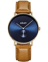a.b.art Watch Timepiece for Men FA41-012-3L Rose Gold Case Blue Dial Quartz Movement Dress Watch