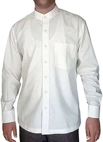 INMONARCH Mens White Cotton Printed Nehru Collar Shirt NSH17011CUSTOM-MADE Custommade White