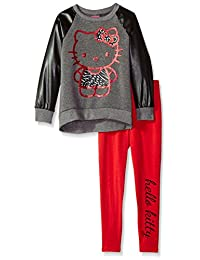 Hello Kitty girls Legging Set With Pleather Sleeves