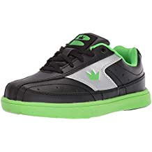 Brunswick Bowling Products Youth Renegade Bowling Shoes- 03 (Youth), Black/Neon Green, 3 (Renewed)