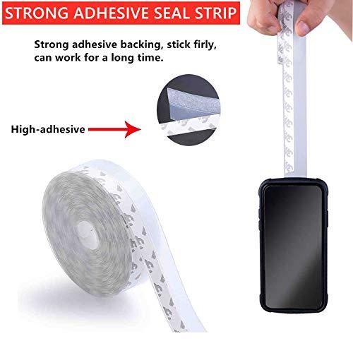 Door Seal Strip Silicone Weather Stripping Strip Seal Door Bottom Sealing for Door Window (35 mm)