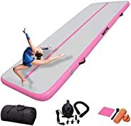 DAIRTRACK IBATMS Air Track 10 Feet Inflatable Gymnastics Tumble Track Air Mat Air Floor Mat for Home Outdoor S