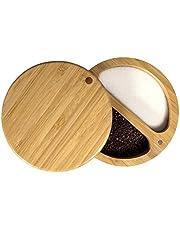 Totally Bamboo 20-2083 Salt Box, 3-1/2-Inch round, Plain