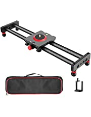 Neewer Camera Slider Carbon Fiber Dolly Rail, 11.8 inches/30 centimeters with 4 Bearings for Smartphone Nikon Canon Sony Camera 12lbs Loading