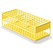 Laboratory Test Tube Racks for 13mm Test Tubes, Yellow