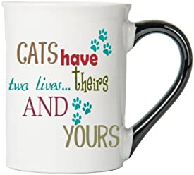 Tumbleweed Cats Have Two Lives…Theirs And Yours Cat Coffee Mug - Gifts For Cat Lovers