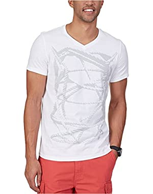 Mens Knot V-Neck Graphic T-Shirt