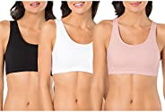 Fruit of the Loom Women's Built-Up Sports Bra, (Pack o