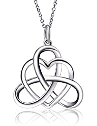 925 Sterling Silver Good Luck Irish Triangle Celtic Knot...