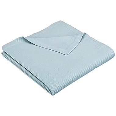 Pinzon Brushed Cotton Waffle Blanket - King, Aqua