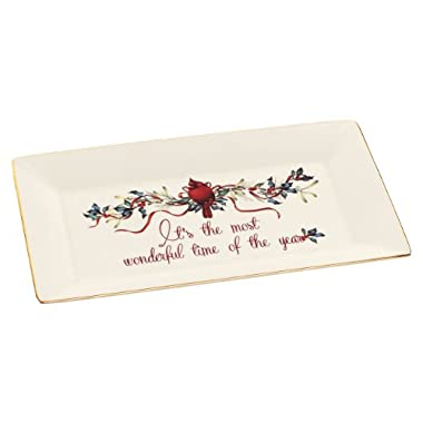 Lenox Winter Greetings Platter, It's the Most Wonderful Time of the Year