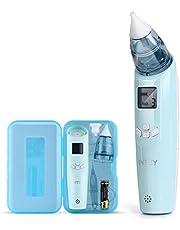 INTEY Nasal Aspirator Nasensauger sicherer und schneller sowie hygienischer Nasenschleimentferner mit Musik & Licht 3 Betriebsstufen & 2 Größe für Neugeborene & Kleinkinder