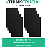 8 Replacements for GermGuardian E Carbon Filters Fit AC4100 Air Purifiers, Compatible With Part # FLT11CB4, by Think Crucial