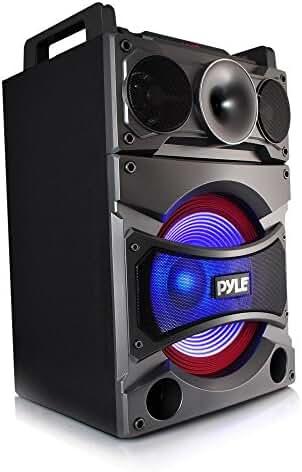 Pyle PSUFM1238BT Bluetooth PA Loudspeaker Karaoke Entertainment System, Wireless Mic