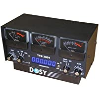 Dosy TFB-3001 1,000 Watt SWR/Mod/Watt Meter with Black Meters & Frequency Counter