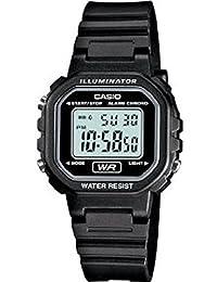 Womens Classic Digital Black Resin Watch - LA20WH-1ACF