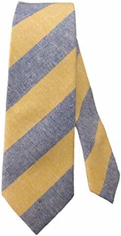 Men's Striped Linen Skinny Tie 2.5