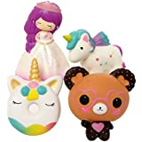 TEEGOMO 4 Pcs Squishies Wedding Girl,Glasses Bear,Unicorn Pegasus and Unicorn Donut Slow Rising Scented Jumbo Squishy Squeeze Squishies Toys and Gifts