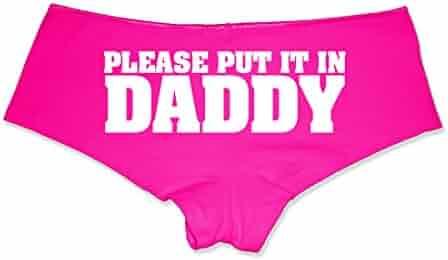 97de9462a54 Please Put It in Daddy Booty Shorts Boyshort Cotton Bikini Bottom Sexy  Panties