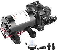 Self‑Priming Water Pump, 12V 60 PSI 5.0 GPM Diaphragm Pump Self‑Priming Boat Marine RV Water Pump