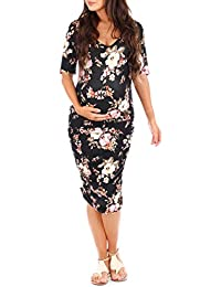 Women's Maternity Ruched Dress