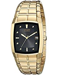 Citizen Mens Eco-Drive Stainless Steel Watch with Date, BM6552-52E