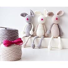 Crochet Kit - Bunny Family,Amigurumi Kit,Crochet Kit,Crochet Pattern Included,amigurumi kits,Crochet kits,crochet gift,diy crochet kit,diy,kit,kits