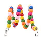 Bird Parrot Swing Toy, Bird Perch Stand Spiral Bungee Chew Hanging Toy Bird Ladder Parrot Climbing Toys Cage Accessories(60cm)