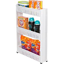 """Trademark Innovations 28"""" Slim Slide Out Storage Tower for Laundry, Bathroom, or Kitchen"""