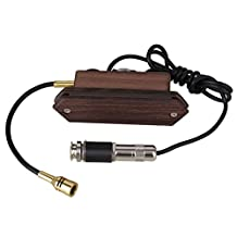BQLZR Rosewood Wood Color Magnetic Dual Coil Soundhole Pickup with Microphone for Acoustic Guitar