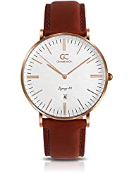 Gelfand & Co. Unisex Minimalist Watch Medium Brown Leather Concord 40mm Rose Gold with White Dial