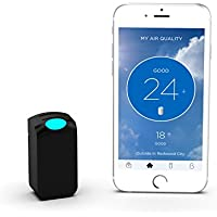 Wynd Wearable Air Quality Tracker, Black Matte