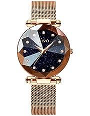 CIVO Women Watches Ladies Stainless Steel Mesh Strap Waterproof Luxury Watches for Woman Girls Teenager Fashion Elegant Business Dress Analogue Quartz Wrist Watch
