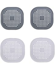 Silicone Drain Hair Shower Catcher Kitchen Sink Strainer Easy to Install and Clean Suitable for Bathroom Kitchen 4 Pcs