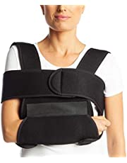 ArmoLine Arm Sling Sling and Swathe Breathable Fabric for Adult Black Broken Arm Bandage for Broken Wrist Shoulder immobilizer