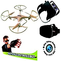 12 RC Drone Quadcopter Indoor Outdoor w/WiFi FPV HD Camera VR Headset and Motion Control