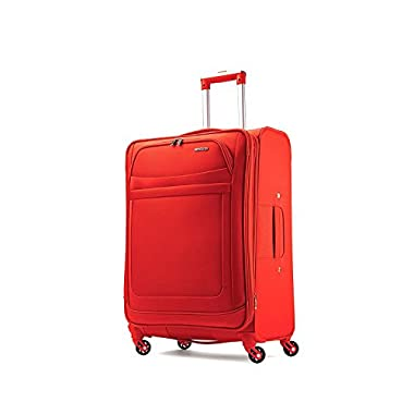 American Tourister Ilite Max Softside Spinner 21 Carry On Luggage, Tangerine