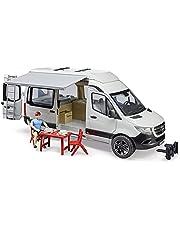 Bruder 02672 - MB Sprinter Camper met bestuurder incl. campingset met tafel en servies