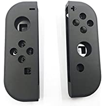 Hisonders Full Housing Faceplate Handle Shells Case Cover & Battery Middle Plate Frame Replacement for Nintendo Switch NS Controllers Joy-Cons (Grey)
