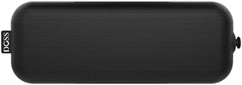 DOSS Pie Portable Bluetooth speakers,Ultra Slim Pocket-Sized Portable Wireless Stereo Speakers with Dual Drivers,4W output,Built-in Rechargeable battery,handsfree,3.5mm line-in support[black]