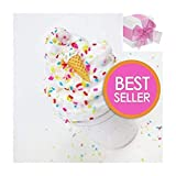 Slime Ice Cream Birthday Cake Butter with Chocolate Charm ,Birthday Cake Scented Butter Non-Sticky Floam Toy for Girls and Boys(7oz)