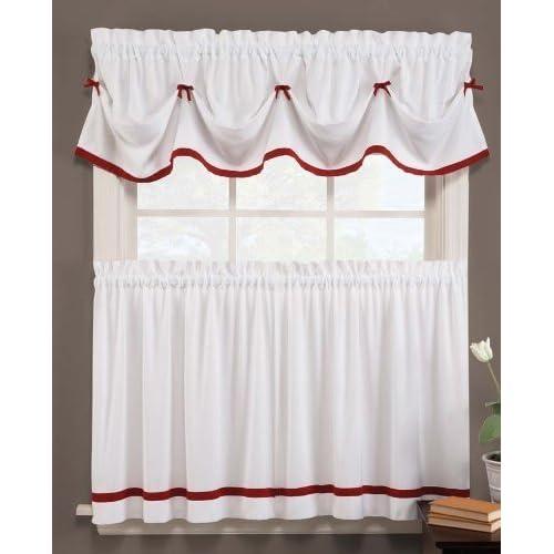 Country Kitchen Curtains Amazon Com: Kitchen Christmas Curtains: Amazon.com