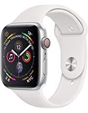 Apple Watch Series 4 44mm Silver Aluminium Case White Sports Band (GPS + Cellular)