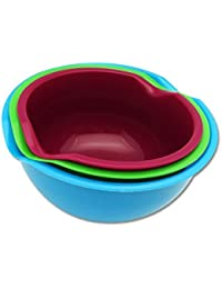 CheckOut 3 Mixing Bowls Set with Spout in Assorted Colors saleoff