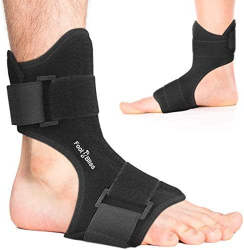 Plantar Fasciitis Night Splint - Drop Foot Support Brace - Dorsal Planter Fasciitis Splints for Right or Left Foot. Support Sleep, Arthritis, Tendonitis, Dorsiflexion, Heel Calf Stretcher, Men + Women