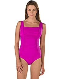 Women's Endurance+ Shirred Tank One Piece Swimsuit